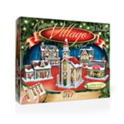 Wrebbit The Christmas Village 3D Panel Puzzle
