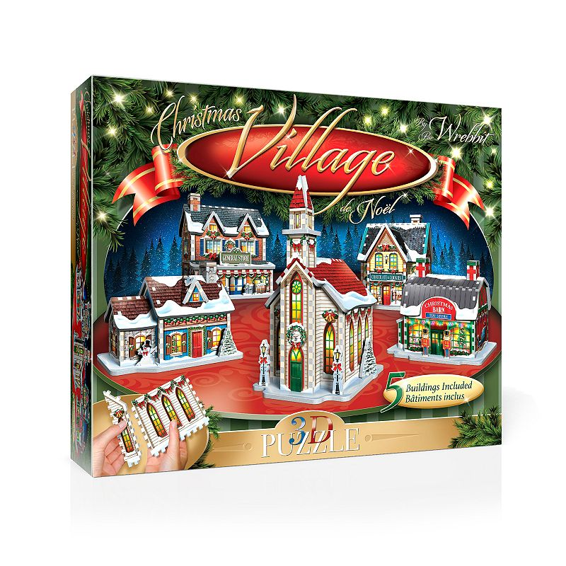 Wrebbit The Christmas Village 3D Panel Puzzle Add some holiday magic to your weekend when putting together this Wrebbit The Christmas Village 3D Panel Puzzle. Easy-to-assemble large panels Includes 5 buildings Can be disassembled for storage 7.5''H x 5.5''W x 4.5''D 116 pieces Age: 10 years & up Polyethylene foam, paper Assembly required Wipe clean Imported Size: One Size. Color: Multicolor. Gender: unisex. Age Group: kids.