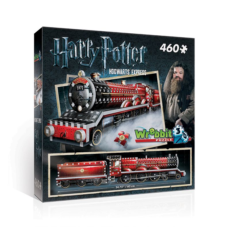 Wrebbit Hogwarts Express 460-Piece 3D Puzzle Add some magic to your weekend when putting together this Wrebbit Hogwarts Express 460-Piece 3D Puzzle. 3D puzzle version of the iconic steam engine Foam-backed puzzle pieces makes snug fit puzzle 24.75''H x 5.25''W x 3.5''D 460 pieces Age: 12 years & up Polyethylene foam, paper Assembly required Wipe clean Imported Size: One Size. Color: Multicolor. Gender: unisex. Age Group: kids.