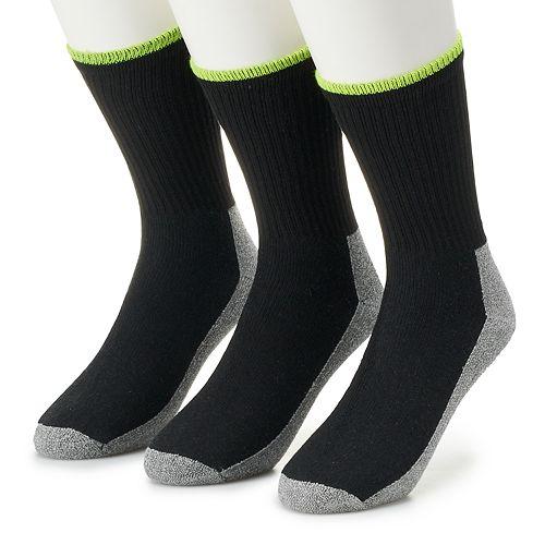 Men's Job Site 3-pack Comfort Top Work Wear Crew Socks