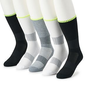 Men's Job Site 5-pack Work Wear Performance Crew Socks