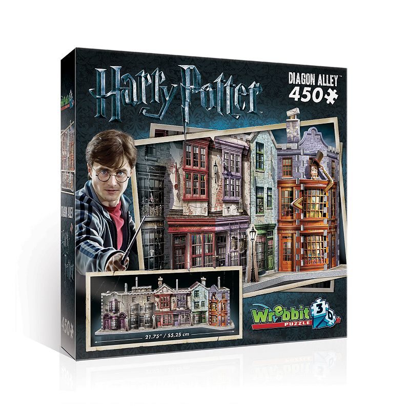 Wrebbit Diagon Alley 450-Piece 3D Puzzle Add some magic to your weekend when putting together this Wrebbit Diagon Alley 450-Piece 3D Puzzle. 3D puzzle gives Muggles full access to a hidden side of London Discover a unique range of mythical shops where young wizards find their school supplies and more Foam-backed puzzle pieces makes snug fit puzzle 8.5''H x 8.5''W x 7.5''D 450 pieces Age: 10 years & up Polyethylene foam, paper Assembly required Wipe clean Imported Size: One Size. Color: Multicolor. Gender: unisex. Age Group: kids.