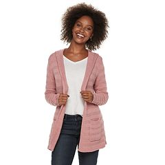 Petite SONOMA Goods for Life™ Float Stitch Hooded Cardigan