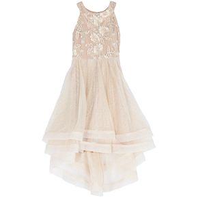 Girls' 7-16 Speechless Embroidered Mesh & Tulle Dress