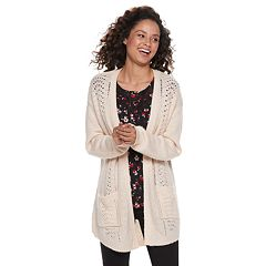 Juniors' Candie's® Pointelle Cardigan