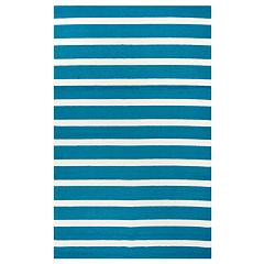 Rizzy Home William Azzura Hill Stripes Rug