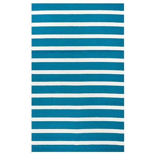 Rizzy Home William Azzura Hill Stripes Rug
