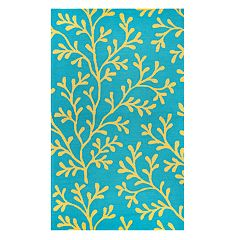Rizzy Home Jacob Azzura Hill Botanical Rug - 5' x 7'6'