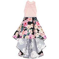 Girls 7-16 Speechless Floral Print Lace Dress