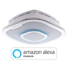 First Alert - Onelink Safe & Sound - Smart Hardwired Smoke + Carbon Monoxide Alarm and Premium Home Speaker with Amazon Alexa