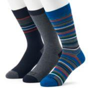 Men's Funky Socks 3-pack Stripes Casual Crew Socks