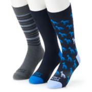 Men's Funky Socks 3-pack Dogs Casual Crew Socks