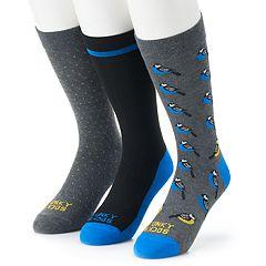 Men's Funky Socks 3-pack Birds Casual Crew Socks