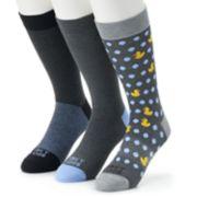 Men's Funky Socks 3-pack Duckies Casual Crew Socks