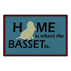 Brumlow Mills Home is Where the Basset is Rug
