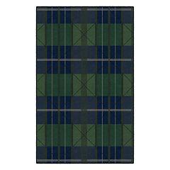 Brumlow Mills Green & Blue Traditional Plaid Rug