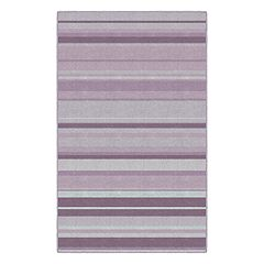 Brumlow Mills Pastel Blue Traditional Stripes Rug