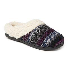 Women's Dearfoams Chunky Knit Clog Slippers
