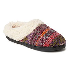 Women's Dearfoams Chunky Knit Clog Slippers