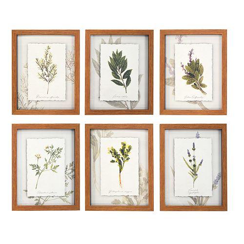 New View Botanical Framed Wall Art 6-piece Set