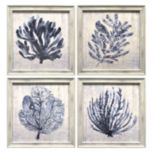 New View Coastal Seafan Framed Wall Art 4-piece Set