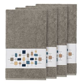 Linum Home Textiles Turkish Cotton Khloe Embellished Bath Towel Set