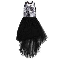 Girls 7-16 Speechless Floral Print Tulle High-Low Dress