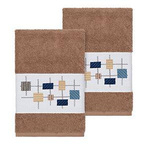 Linum Home Textiles Turkish Cotton Khloe Embellished Hand Towel Set