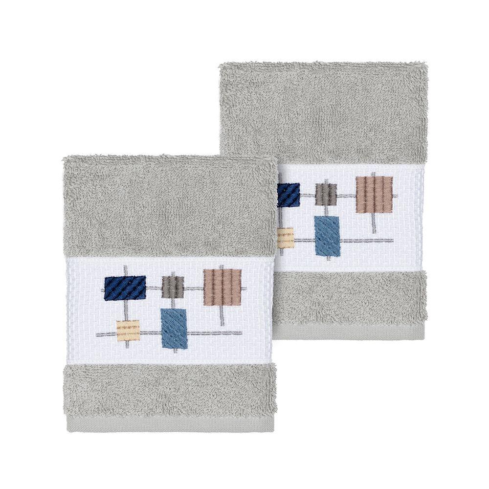 Linum Home Textiles Turkish Cotton Khloe Embellished Washcloth Set