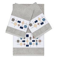 Linum Home Textiles 3-piece Turkish Cotton Khloe Embellished Towel Set
