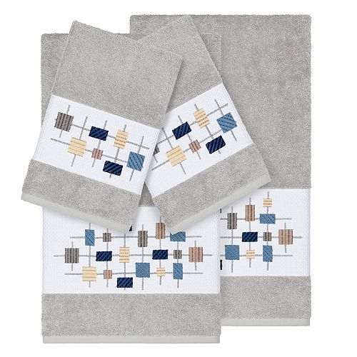 Linum Home Textiles 4-piece Turkish Cotton Khloe Embellished Towel Set