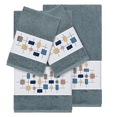 Linum Home Textiles 4-piece Turkish Cotton Khloe Embellished Towel Set
