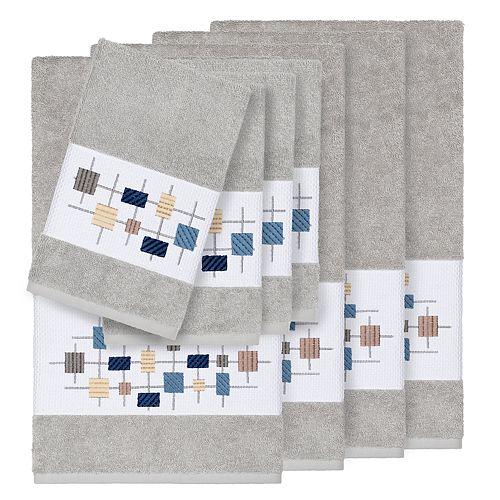 Linum Home Textiles 8-piece Turkish Cotton Khloe Embellished Towel Set
