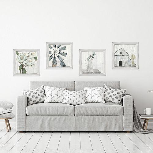 New View Farmhouse Framed Wall Art 4-piece Set