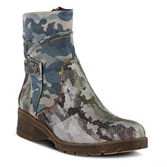 L'Artiste by Spring Step Cammo Women's Ankle Boots