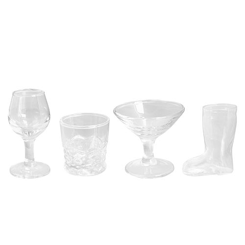 Hammer and Axe 4-piece Cocktail Shot Glass Set