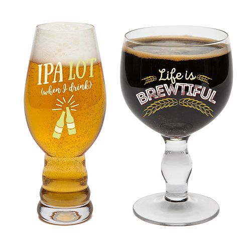 Big Mouth Inc. Beer Snob Drinking Set