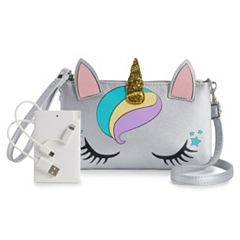 Phone Charger & Graphic Crossbody Bag