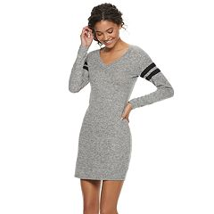 Juniors' Almost Famous Striped Long Sleeve Dress