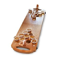 Hammer and Axe Mini Wood Beer Pong Game