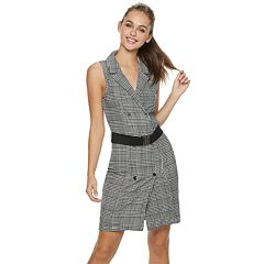 Juniors' Almost Famous Belted Blazer Dress