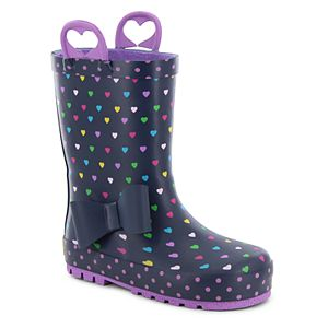 Western Chief Heart Parade Girls' Waterproof Rain Boots