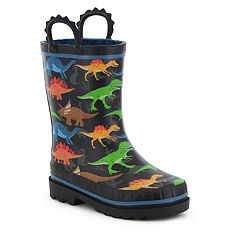Western Chief Dino World Boys' Waterproof Rain Boots