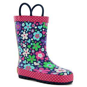 Western Chief Precious Petals Girls' Waterproof Rain Boots