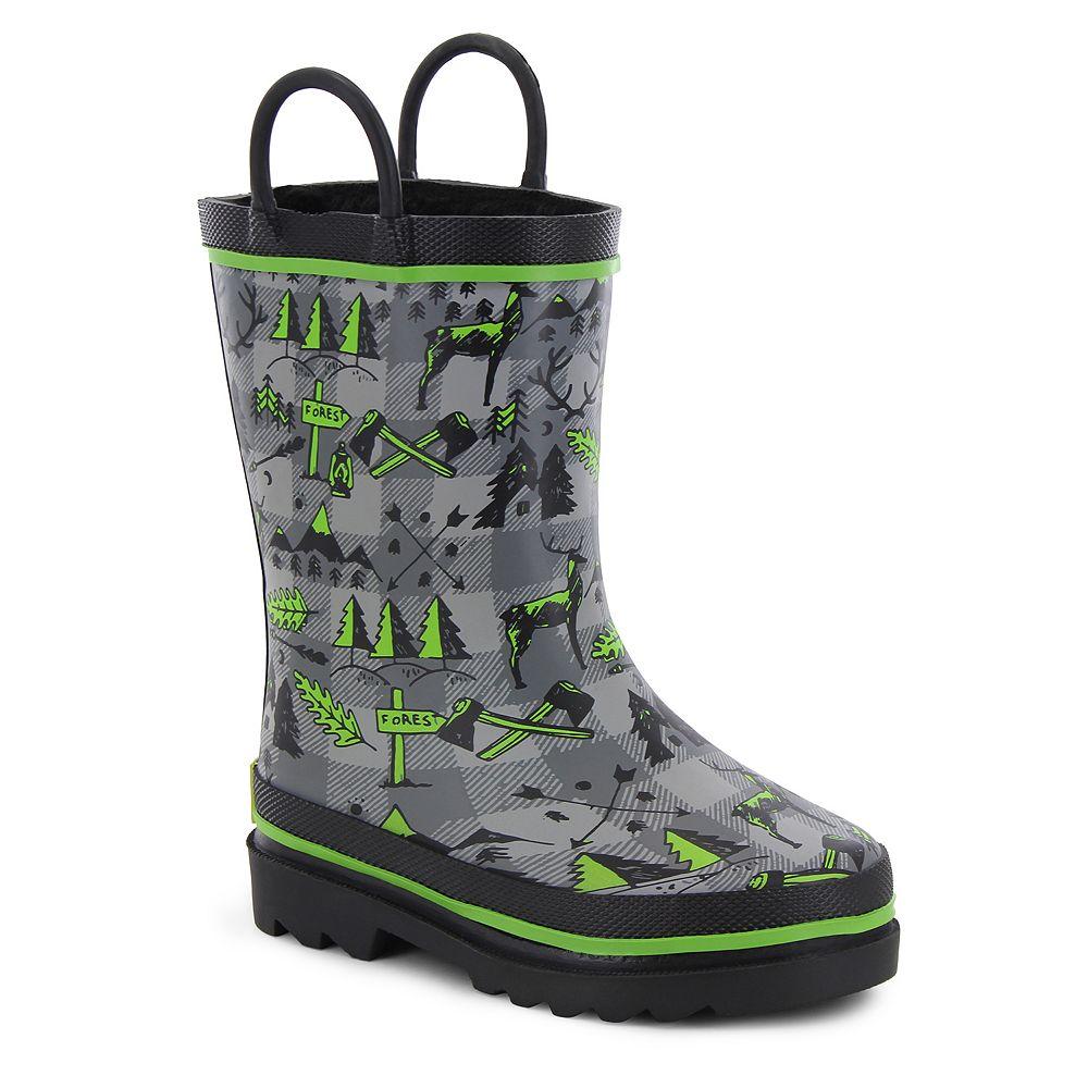 Western Chief Lumberjack Boys' Waterproof Rain Boots