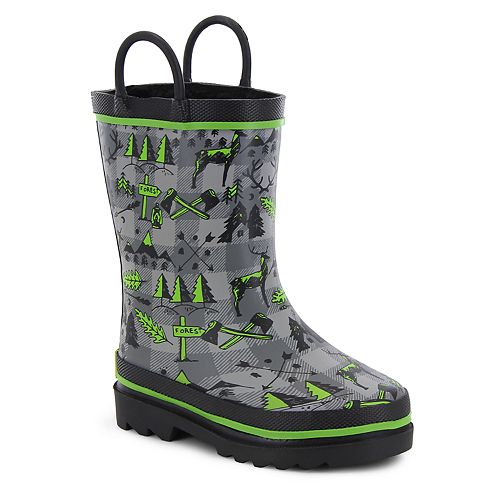 Western Chief Lumberjack Boys' Waterproof Rain Boots