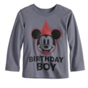 "Disney's Mickey Mouse Toddler Boy ""Birthday Boy"" Softest Graphic Tee by Jumping Beans®"
