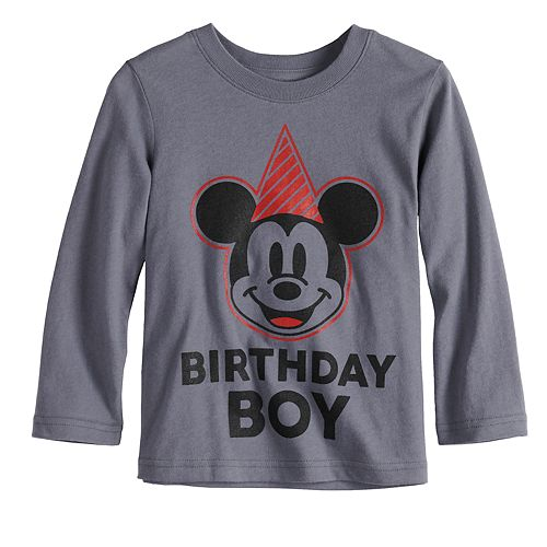 """Disney's Mickey Mouse Toddler Boy """"Birthday Boy"""" Softest Graphic Tee by Jumping Beans®"""