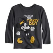 "Disney's Mickey Mouse Toddler Boy ""Hooray For Turkey Day!"" Softest Graphic Tee by Jumping Beans®"