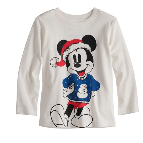 Disneys Mickey Mouse Toddler Boy Mickey Sweater Softest Graphic Tee